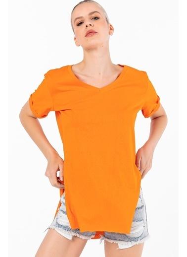 Emjey Tişört Oranj